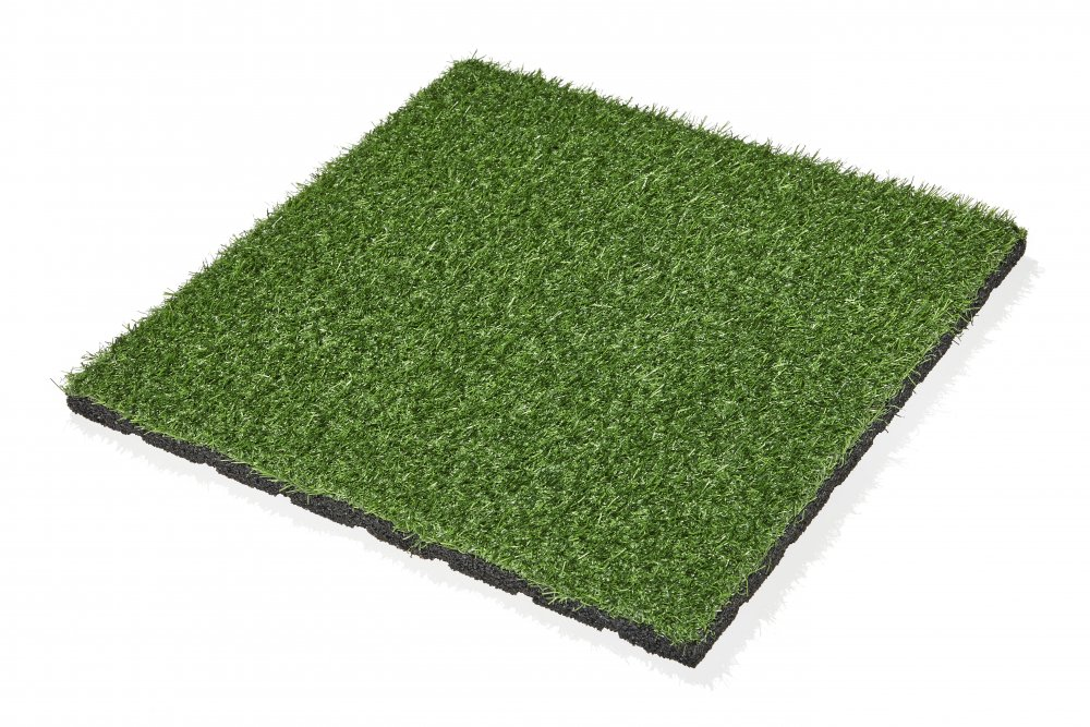 Gumová dlažba s umělou trávou