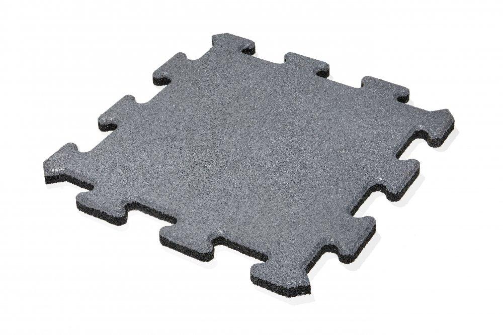 Gumová dlažba puzzle - šedá